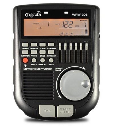 Cherub WRW-206 Portable Multi Function Drum Trainer Metronome Digital Rhythm Editor drummer korg kdm 3wh digital metronome white