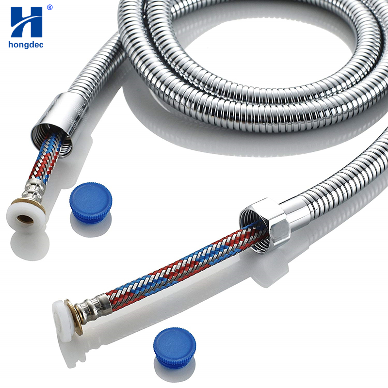 Hongdec 1.5m Replacement New Technology Anti-Kink Anti-Explosion Stainless Steel Shower Hose