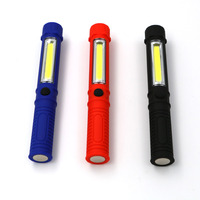 Black blue red cob led portable plastic flashlight torch sport light with magnetic clip for camping.jpg 200x200