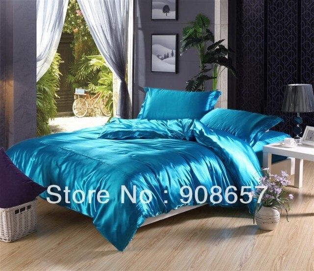 Tuiquoise Luxurious Smooth Shiny Imitated Silk Satin