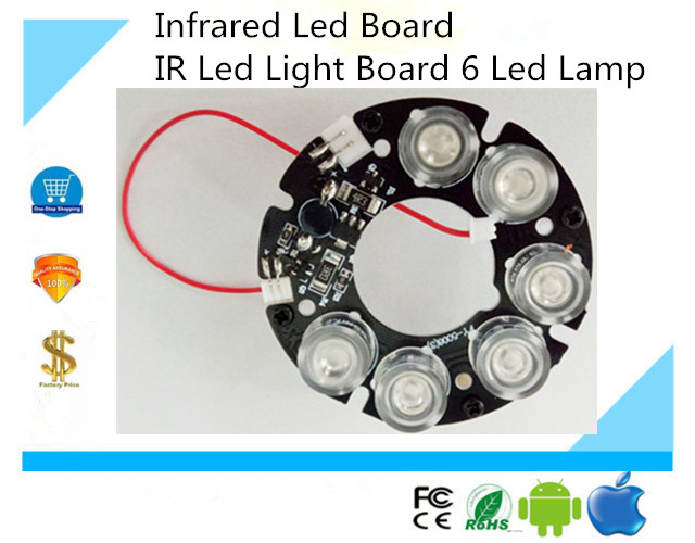 US $4 51 14% OFF|Surveillance Infrared Led Board IR Led Light Board 6 Led  Lamp CCTV Camera Installation Accessories free ship-in CCTV Parts from
