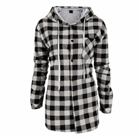 Lisli Men S Classic Flannel Plaid Shirt Hooded Long Sleeve Clothes For Men Fashion 2017 New