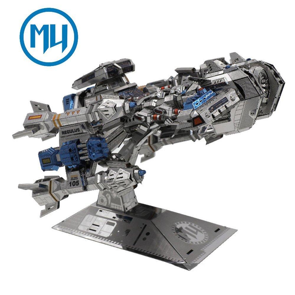 Update Version MU 3D Metal Puzzle Battle Cruiser Battleship BC S01 DIY 3D Metal Puzzle Kits