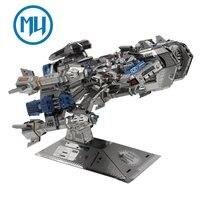 Update Version MU 3D Metal Puzzle Battle Cruiser Battleship BC S01 DIY 3D Metal Puzzle Kits Laser Cut Models Jigsaw Toys