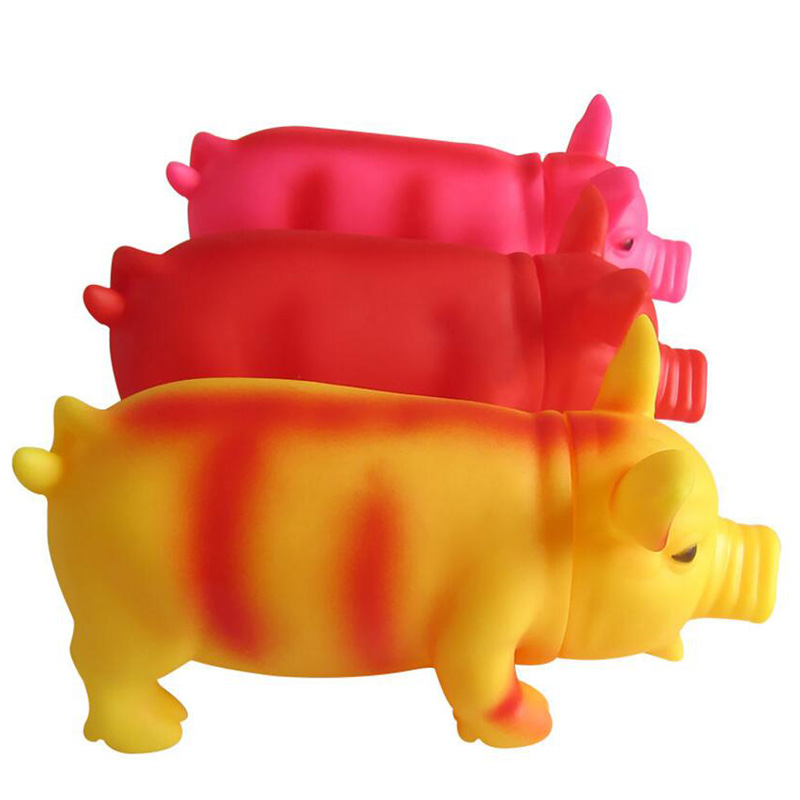 Cleaning Teeth Dog Cat Chewing Toy Pig Squeak Cute Rubber Pet Dog Puppy Playing Pig Toy Squeaker Squeaky With Sound