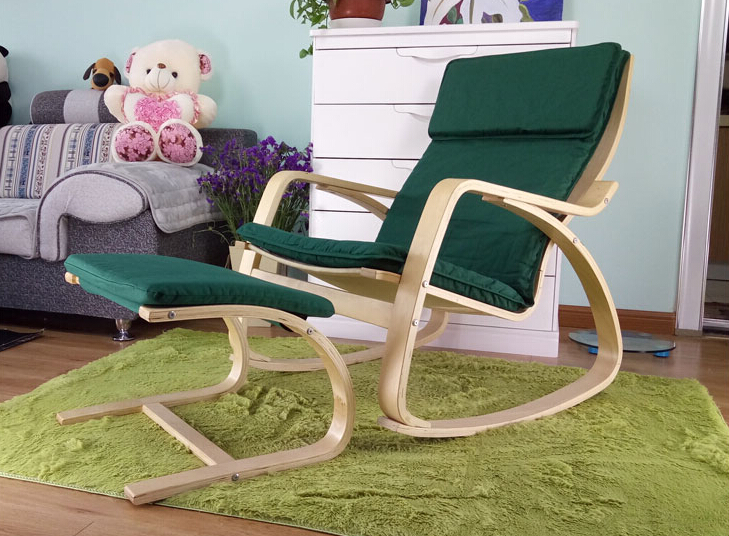 comfortable relax chair rocking chair and stool ottoman chaise lounge living room furniture modern adult rocking