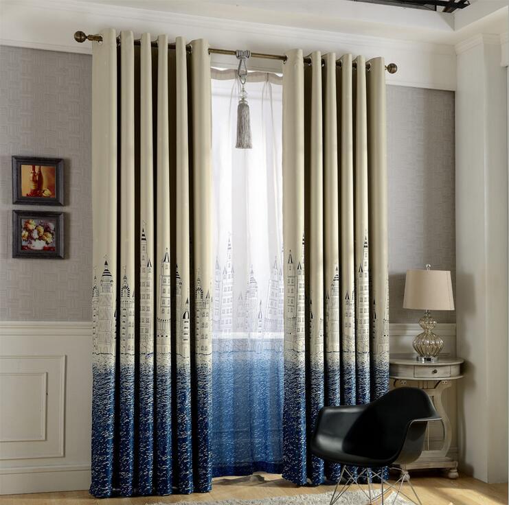 Mediterranean style blackout curtains for living room - Rideaux originaux pour salon ...