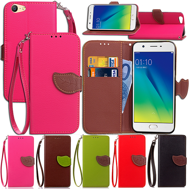 separation shoes 8d915 8e890 US $4.64 7% OFF Leaf Case for OPPO A57 A 57 Flip Case Wallet Phone Leather  Cover for OPPO A57 A57M-in Flip Cases from Cellphones & Telecommunications  ...