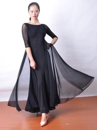 Современное бальное платье для танцев с широкими рукавами и перекрещивающимися лямками W13016