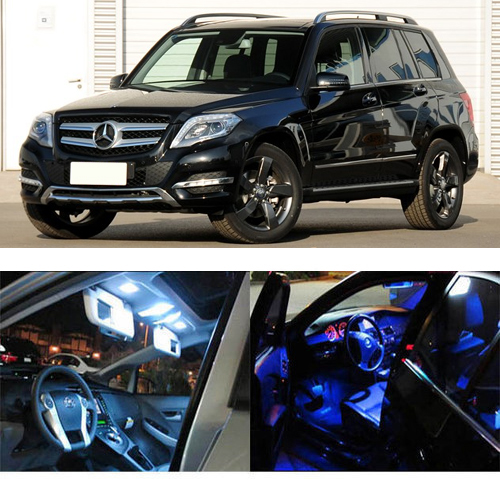 16 X LED Interior Light Package Reading Light For GLK Class X204 GLK260 GLK300 GLK350 Interior Dome Map Light Kit