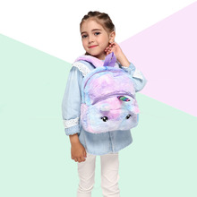 Plush Unicorn Backpack Girls Cute School Bags Teenager Small Shoulder Bag Women Travel Book bags