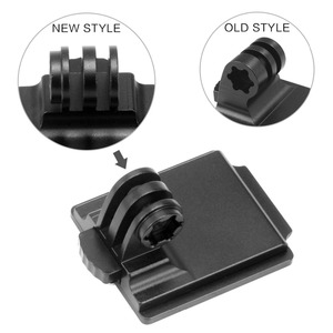 Image 2 - New Helmet Aluminum Fix Mount for Sport Camera Mount Base Holder Competible with GOPRO Hero 1 2 3 3+ 4 5 Session Xiao mi yi Sj