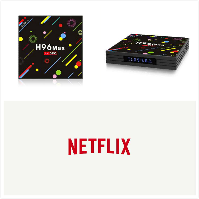 H96 MAX + H2 Android 7.1 Con 1 Anno di Abbonamento di Netflix Premium Conto 4 Schermi Lavoro su tutti i Set di Dispositivi top Box Media Player
