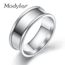 Modyle Titanium Fashion Simple Female Stainless Steel Ring Silver Colour 316L Stainless Steel Rings For Women(China)