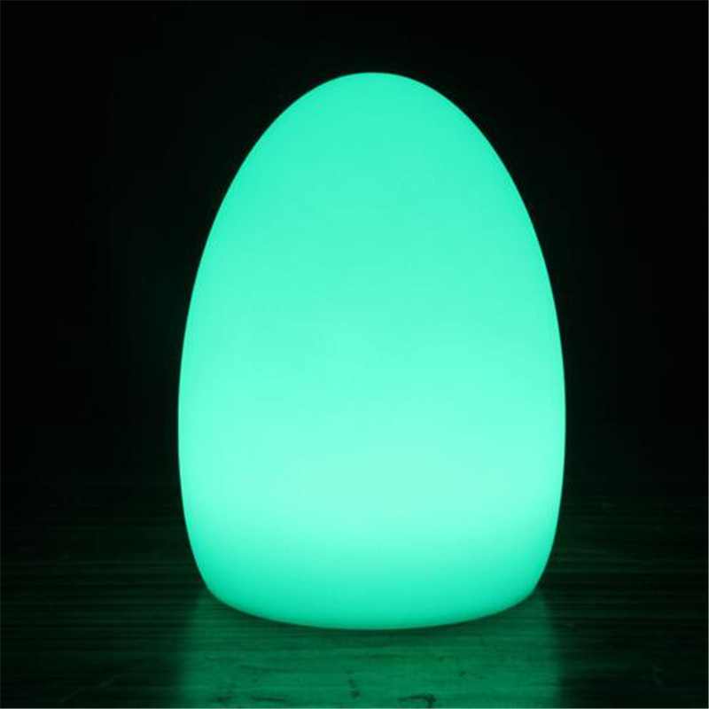 Creative Waterproof Egg Shape RGB Led Table Lamp with Remote Control for Bedroom Bar Restaurant Chargeable Night Light 1330 купить