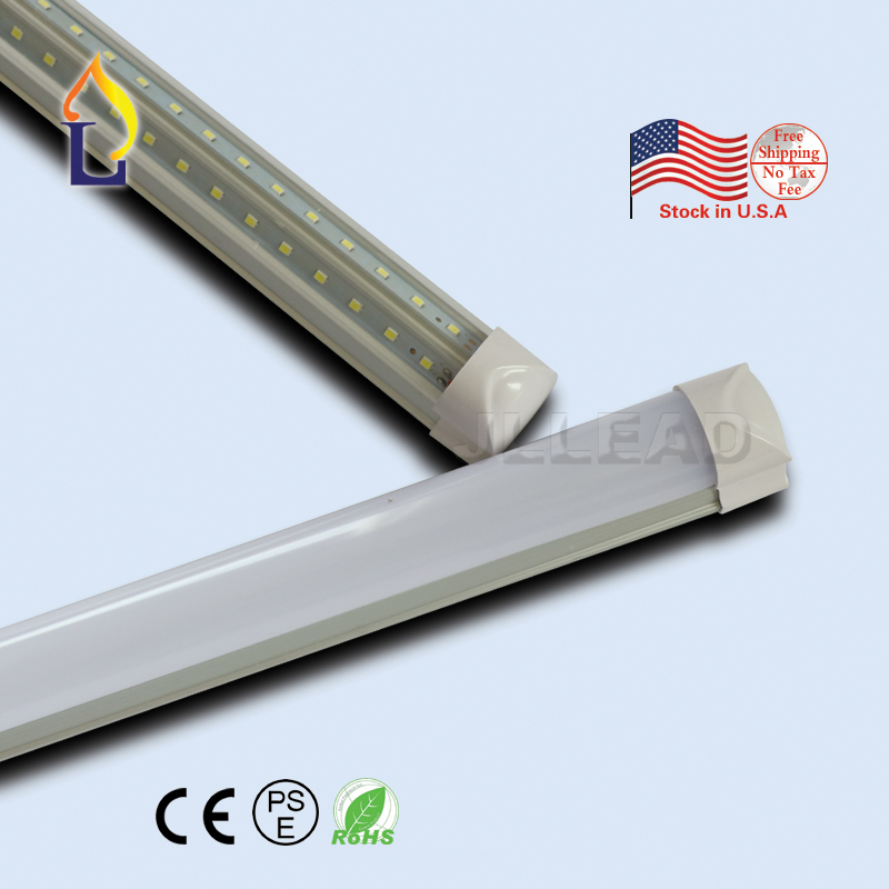 15pcs/lot 4FT 5FT 6FT 8FT 24W-48W T8 Led Tube Light integrated V-shaped Lighting USA warehouse stock Lamp with best price
