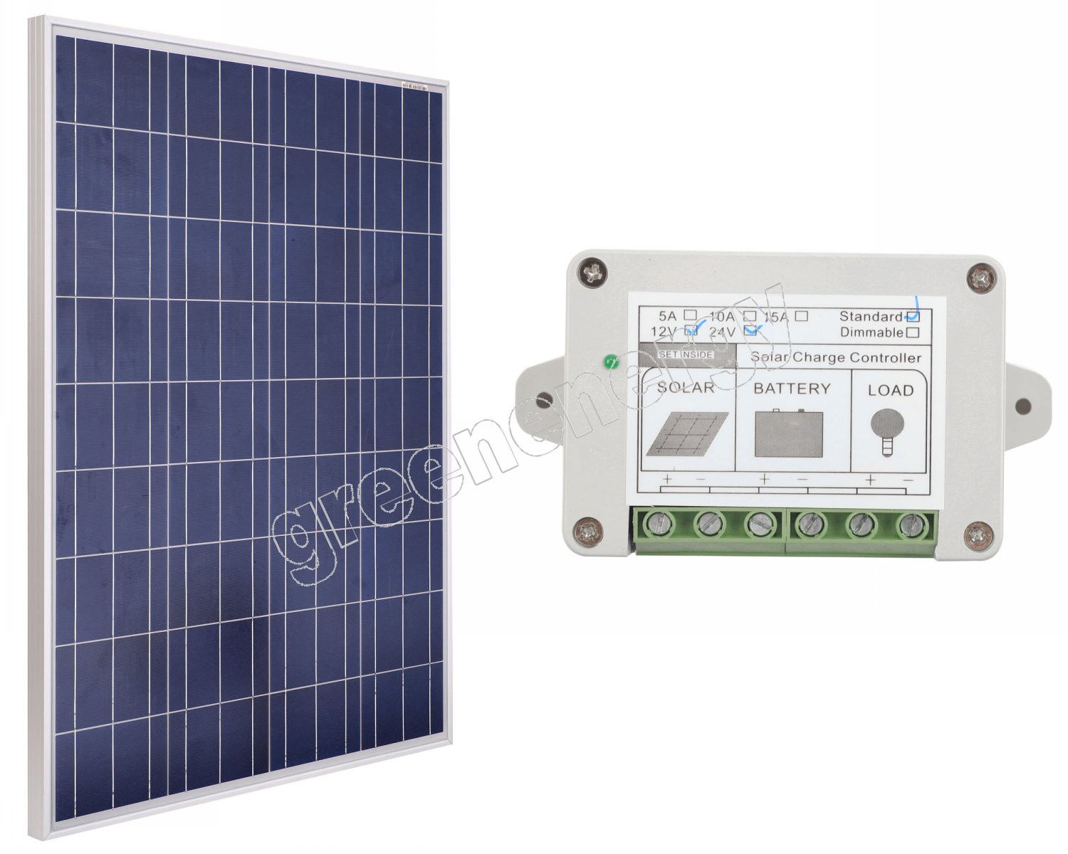 200W WATT 200W 12V SOLAR PANEL WITH 15A 15AMP REGULATOR CHARGE Solar Generators