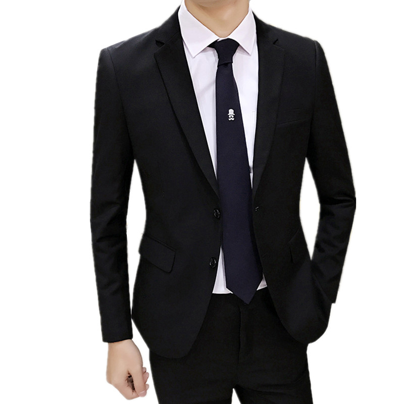 Blazers Pants 2 Pieces Sets / 2018 fashion new men's casual boutique business wedding groom suit jacket trousers suits coat