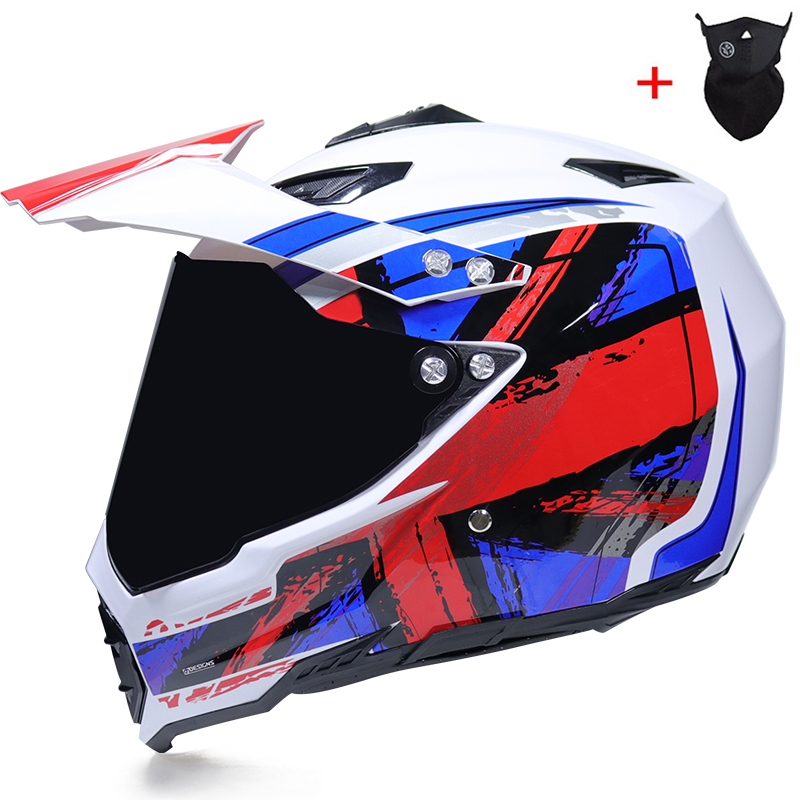 NEW off road motorcycle helmet with sunshield Moto Cross motocross helmet double lens racing moto