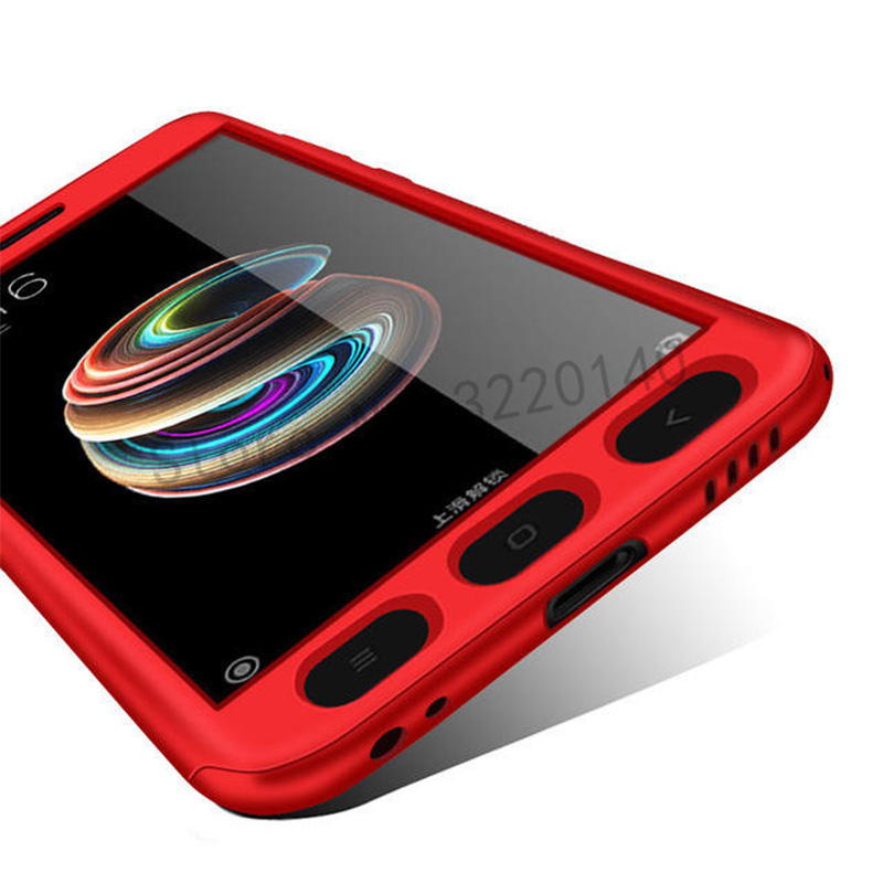360 Degree Full Cover Cases For Xiaomi MI A1 mi 5x case Phone shell For Xiaomi redmi Note 4 4X case For redmi 4A 4X With Glass7