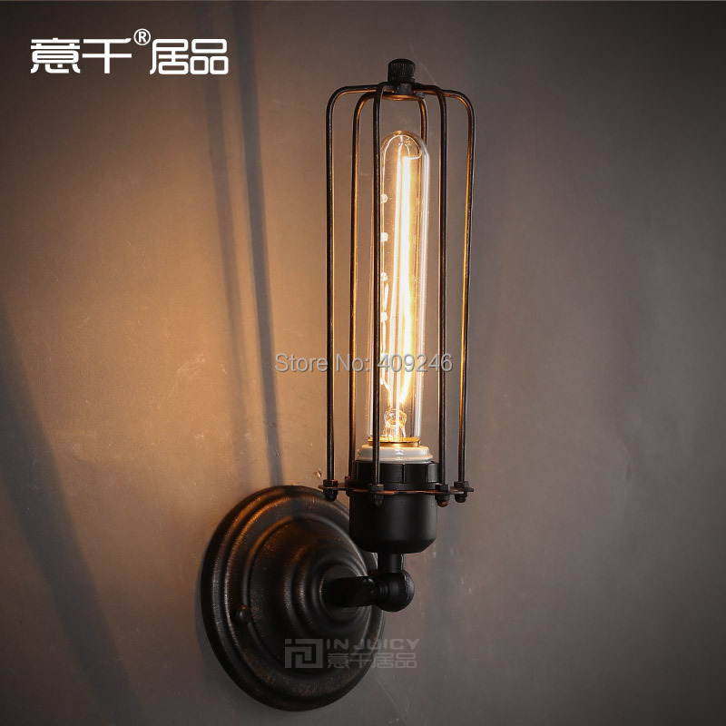 RH LOFT Retro Industrial T185 Iron ART Rust Edison Wall Lamp(Including  Bulb) Cafe Bar Coffee Shop Store Club Balcony Hallway