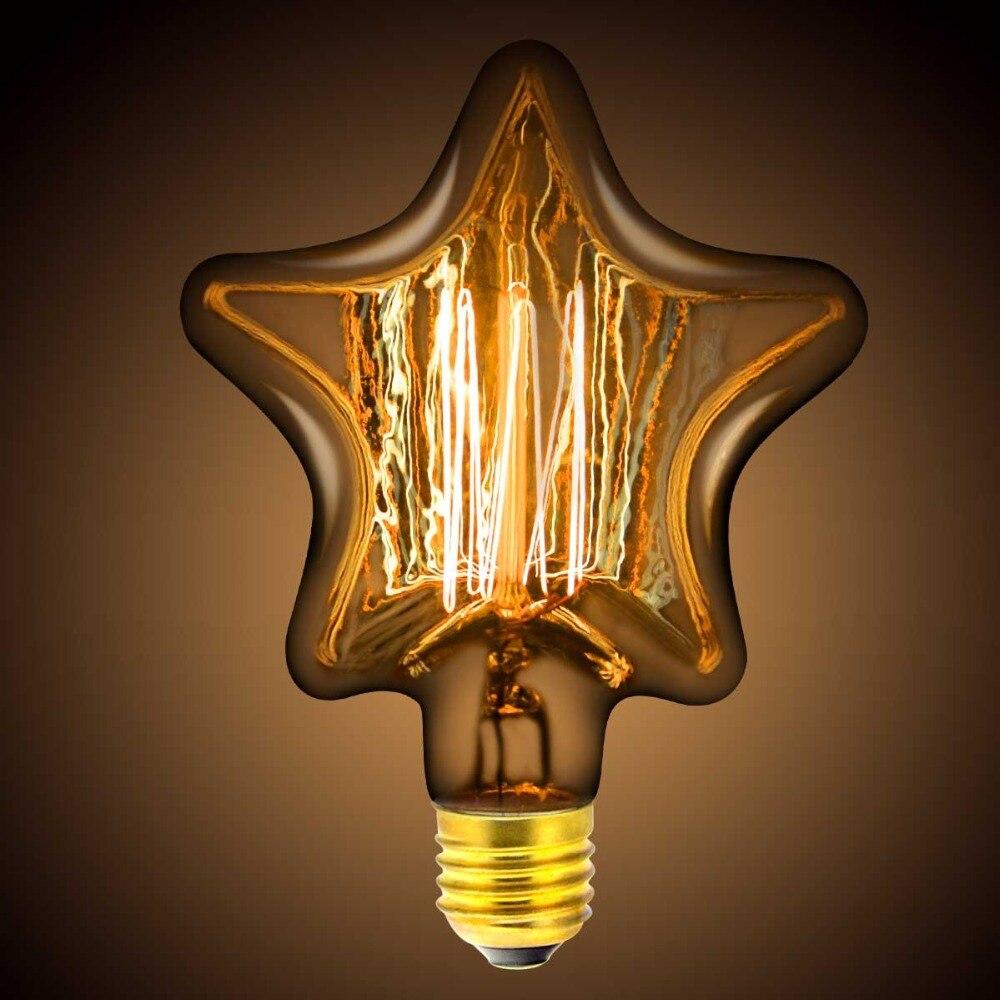 Lampadina A Incandescenza Storia us $3.83 30% di sconto|220v e27 edison della lampadina 40w vintage edisons  lampada retro edison lampadina ad incandescenza star bolla di luce per il