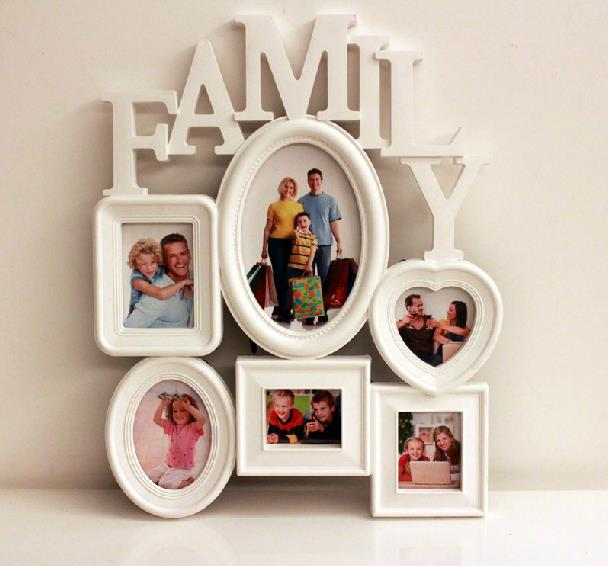 european 6 piece creative photo frame combination vintage family photo frame hanging picture frame wall