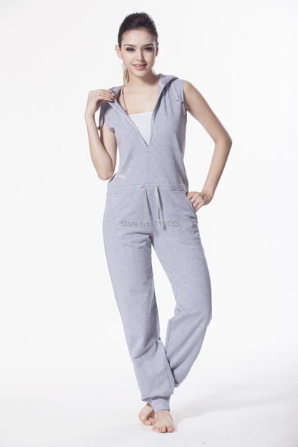 Sleeveless One Piece Jump In Suit For Adult Hoodie Jumpsuit Suit Summer Playsuit
