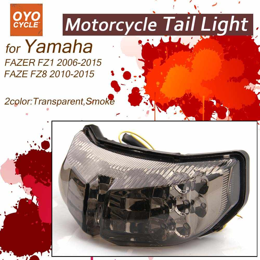 LED Tail Light For Yamaha YZF R6 R1 FAZER FZ1 FZ8 TMAX S30 1200Z Integrated  Motorcycle Turn Signal Light Tail Stop Warning Lamp