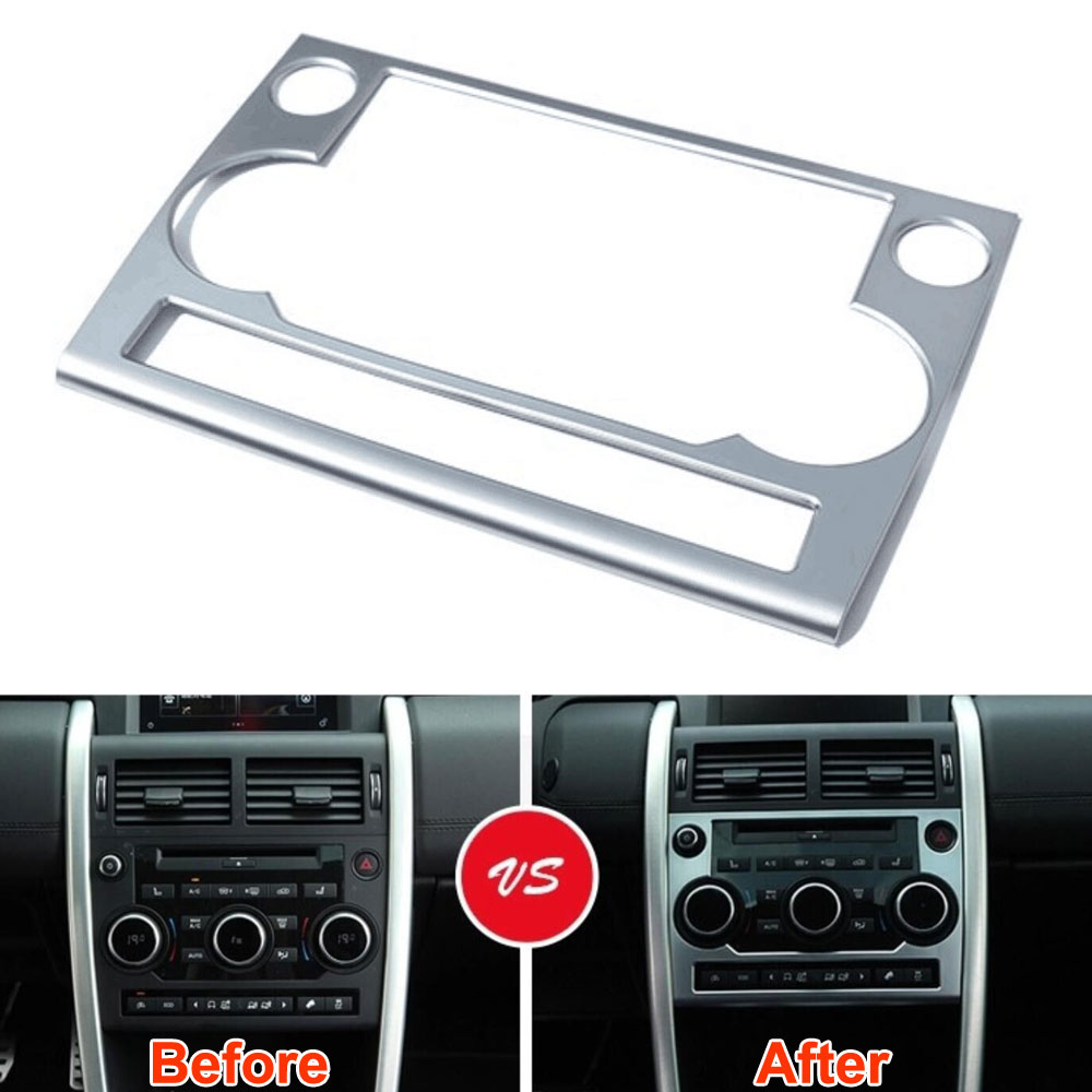 ABS Inner Dashboard Console Switch Button Cover Trim Panel Frame Decoration Fits For Land Rover 2015 Discovery Sport Car Styling car abs matte chrome center console panel molding trim for land rover discovery 4 2010 2016 accessories car styling