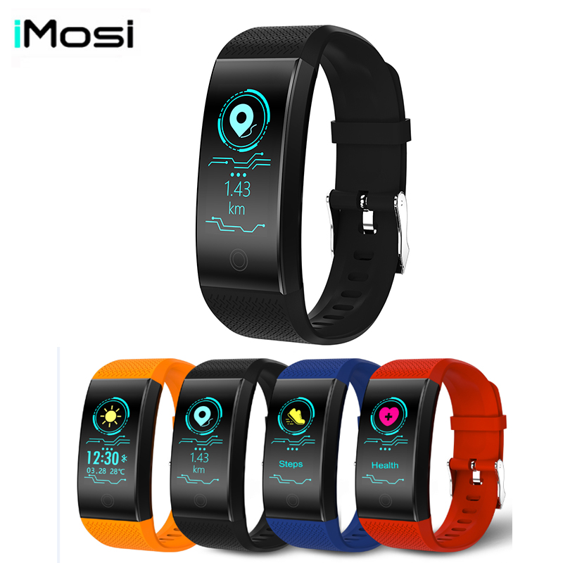 2018 Smart bracelet QW18 HD Color screen Waterproof wristband heart rate monitor Blood pressure measurement Fitness tracker band