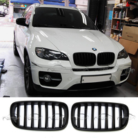 For BMW E70 E71 Front Grills Racing Grille Gloss Black Matt Black M color Kidney Grills