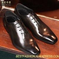 Итальянские туфли оксфорды ручной работы наивысшего качества мужские свадебные туфли дерби туфли с квадратным носком на шнуровке строгие