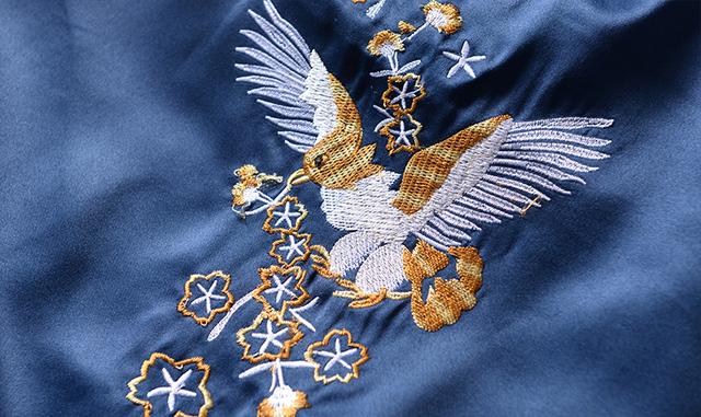 Yokosuka Jacket Bomber Military Souvenir Jacket Spliced Embroidery Dragon/Bird Zipper Baseball Coat Brand Clothing Men Hip Hop