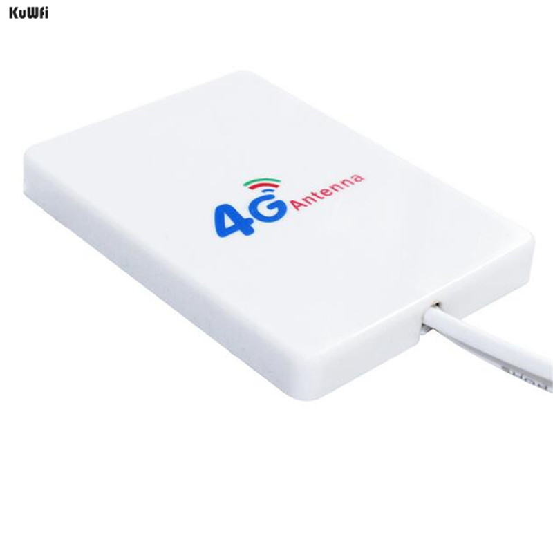 Image 2 - KuWFi 4G Antenna 3M cable LTE Antenna External Antennas for Huawei ZTE 4G LTE Router Modem Aerial with TS9/ CRC9/ SMA Connector-in Communications Antennas from Cellphones & Telecommunications