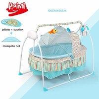 Хорошая электрическая детская кроватка, электрическая детская качалка, большое пространство 100x55 см детская качели кровать