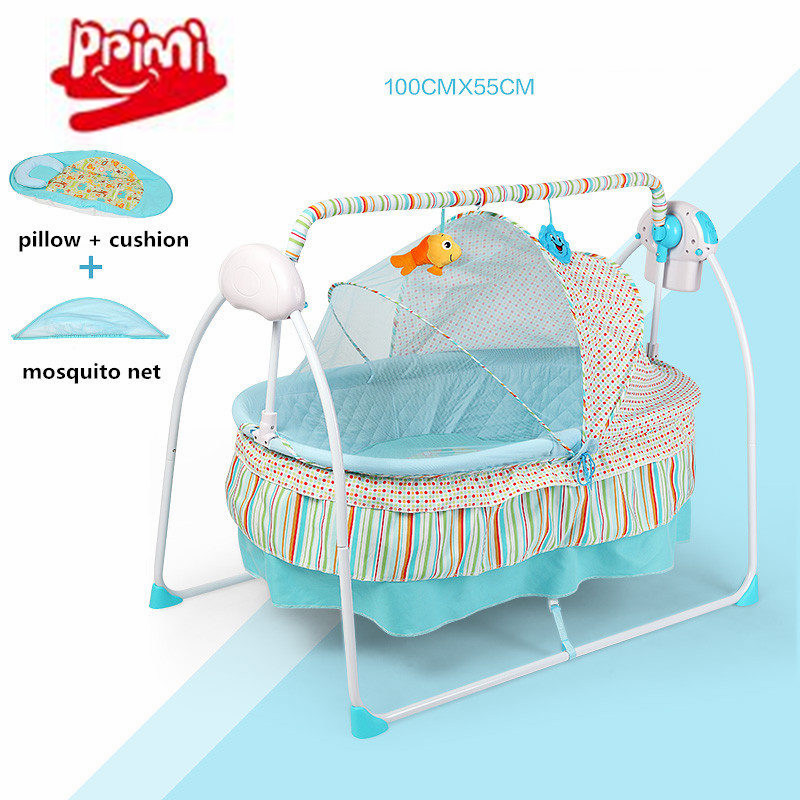 Nice Electric Baby Cradle , Electric Baby Rocker, Big Space 100x55cm Baby Swing Bed