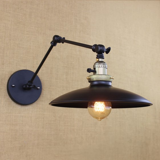 IWHD Industrial Edison Wall Sconce Retro Vintage Wall Lamp Lights In RH Loft Style Arandela lamparas De Pared iwhd adjustable long arm wall lamp vintage rh loft style edison industrial wall sconce arandela de parede wandlampen