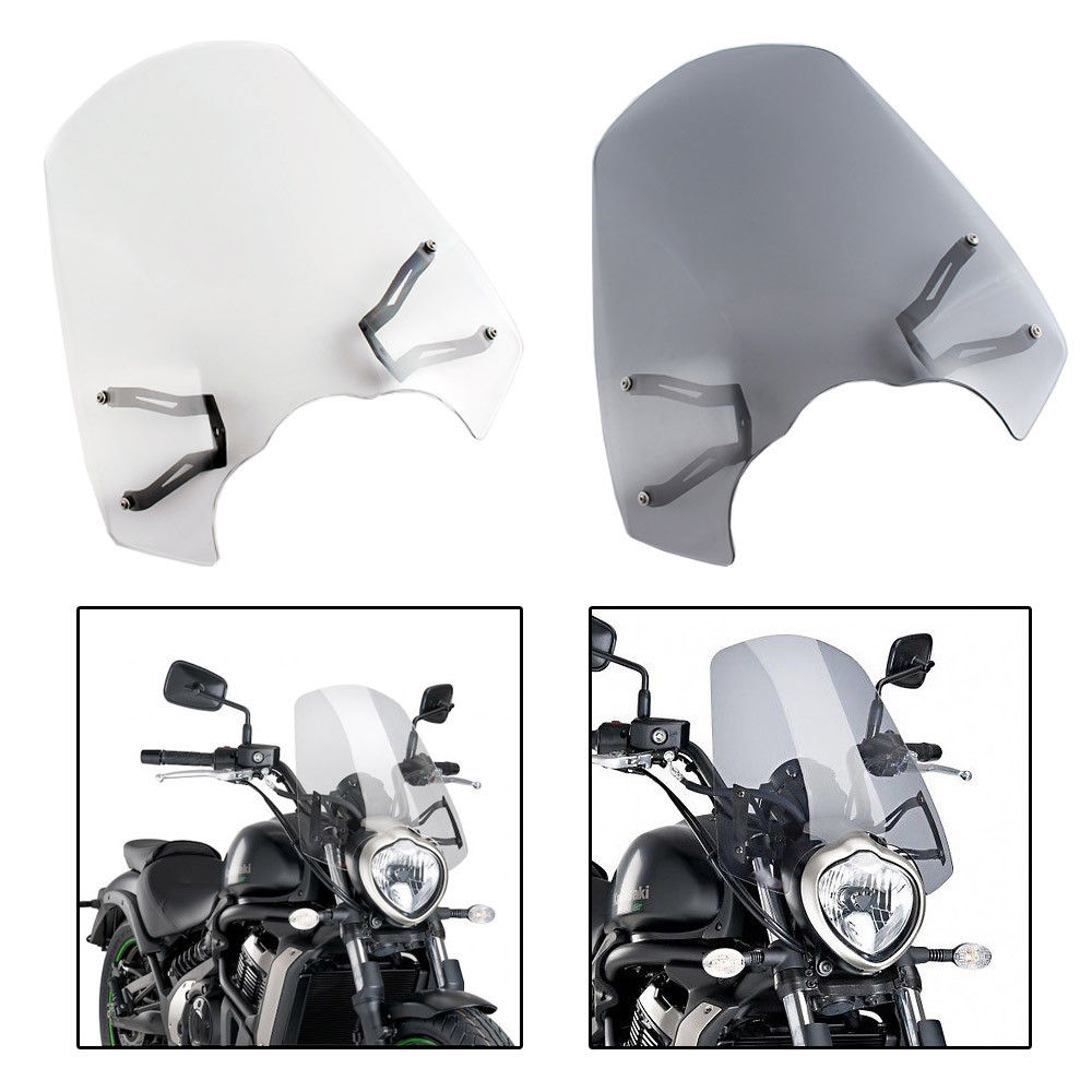 ABS Motorcycle Windscreen Windshield Protection Cover with Mounting Bracket For 2015 2016 2017 2018 Kawasaki Vulcan