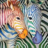 Helle farbige ölgemälde abstrakte zebra malerei tiere leinwand ölgemälde mdf wandkunst für schlafzimmer sets dekoriert
