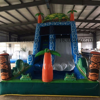 Commercia inflatable slide jumping with inflatable water slide pool for kids water slide