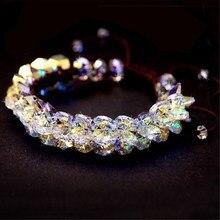 MS betti роскошный модный женский веревочный браслет с регулируемым кристаллом от Swarovski, рождественские подарки на год и День святого Валентина