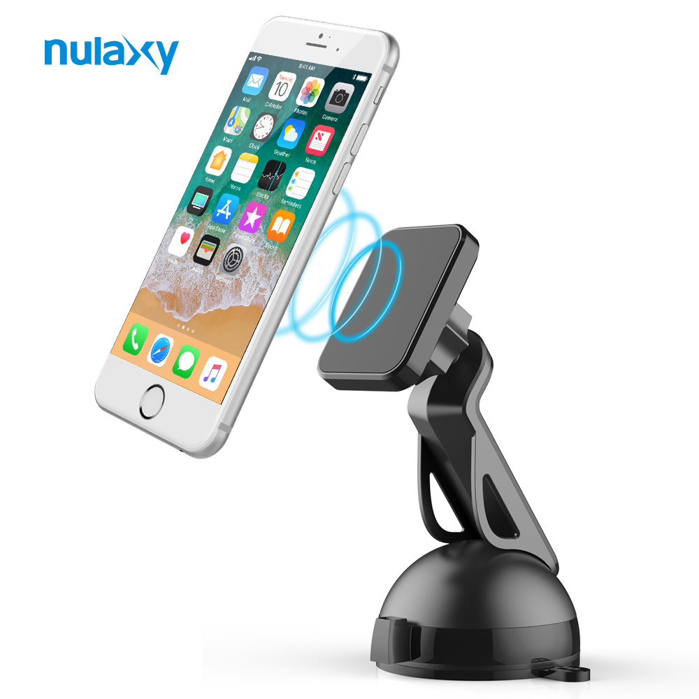 Nulaxy Phone Holder for Car Dashboard Windshield Car Mount Magnetic Phone Holder Air Vent Mount Stand for iPhone X 8 Smartphone meidi car air vent mount phone holder stand 360 rotate adjustable holder for iphone samsung xiaomi