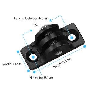 Image 5 - SHOOT CNC Aluminum Alloy Flat Bottom Tripod Adapter Mount for GoPro Hero 8 7 6 5 Black Xiaomi Yi 4K Sjcam M10 Sj8 Eken Accessory
