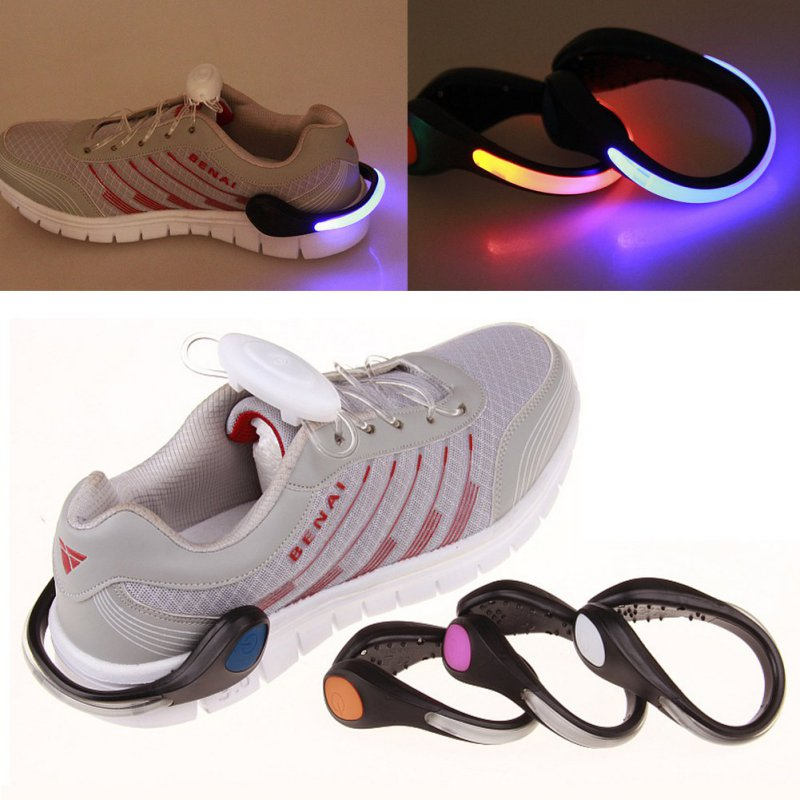 LED Shoe Lighting Warning Light Safety Night Running Shoe Luminous Shoe Clip With Bicycle Rechargeable Battery Lamp