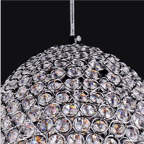 Modern minimalist restaurant lights LED crystal lamp living room coffee bar a light meal office Pendant Lights Diamension 400MM
