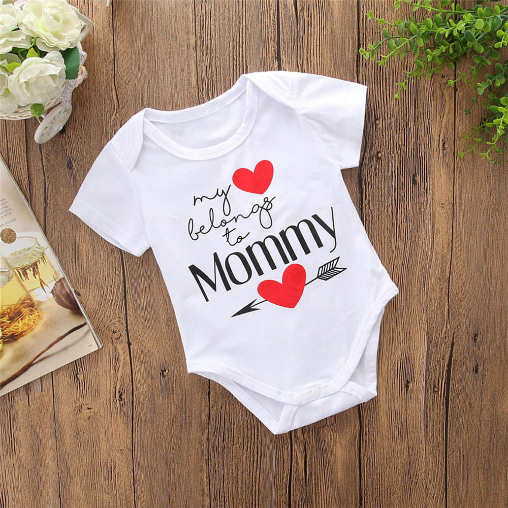 MUQGEW 2019 new clothing Newborn Infant Baby   Romper   Mother's Day Boys Girls Letter Jumpsuit Outfits cartoon minnie sukienki