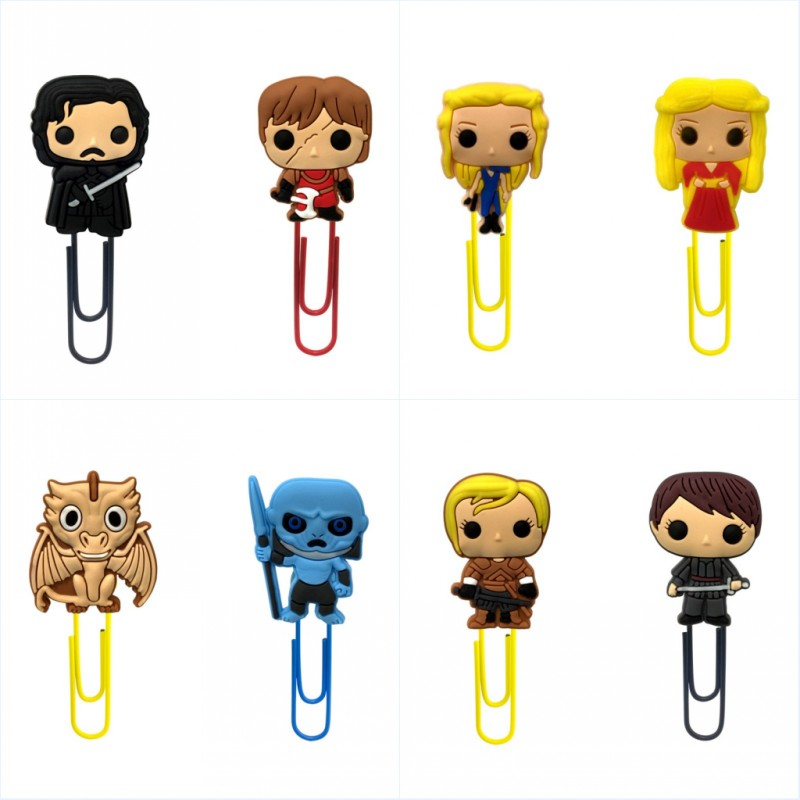 1pcs Game Of Thrones Cartoon Mini Figures Bookmarks For Kids Paper Clips Stationery At Office School Xmas Party Gift