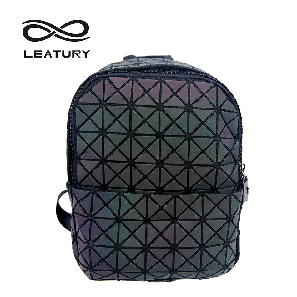 LEATURY 2017 Backpacks for School Teenagers Girls Luminous Diamond Lattice Geometric Japanese School Bags Children Backpacks