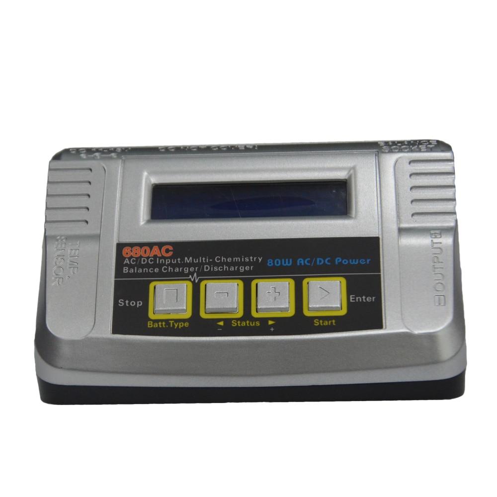 HTRC 680AC 80 W 6A batterie rc chargeur de balance Déchargeurs pour 1-6 s LiPo/Vie/Li-lon Multi Chargeur AC/DC Double Puissance